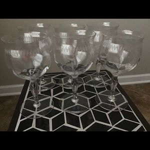 (6) pattered glasses or candle holders
